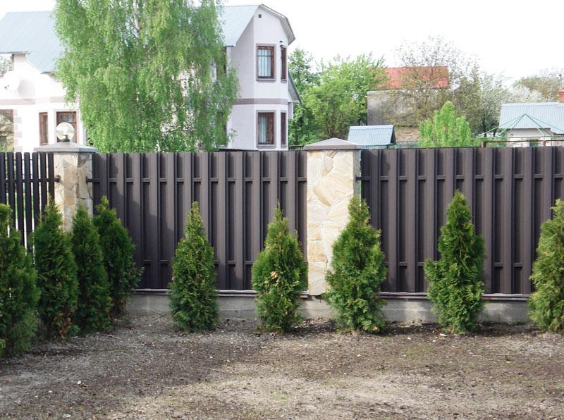 деревянный забор с воротами и калиткой фото